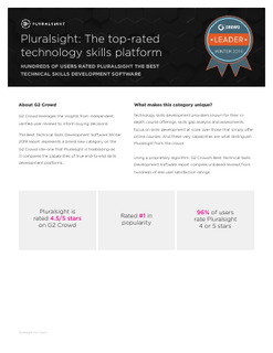 Pluralsight: The top-rated technology skills platform