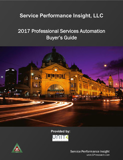 Professional Services Automation Buyer's Guide
