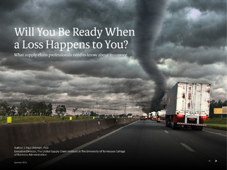 Will You be Ready When A Loss Happens to You? What Supply Chain Professionals Need to Know