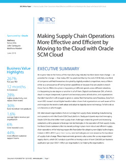 IDC Report: Making Supply Chain Operations More Efficient