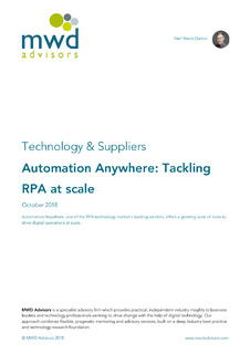 Tackling RPA at scale – analyst report