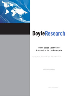Doyle Research: Intent-Based Data Center Automation for the Enterprise