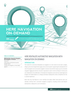 HERE Navigation on Demand revitalize automotive navigation