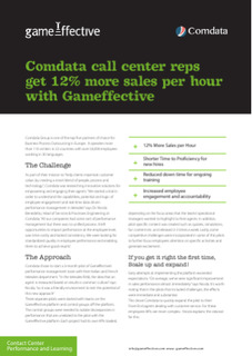 Comdata call center reps get 12% more sales per hour with Gameffective