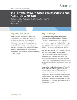 The Forrester Wave: Cloud Cost Monitoring And Optimization Q2 2018