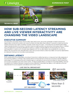 Technical Brief: How Sub-Second Latency Streaming