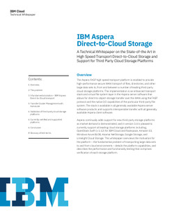 IBM Aspera Direct-to- Cloud Storage