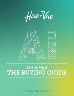AI FOR HIRING: THE BUYING GUIDE
