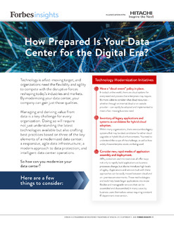 Forbes Insights: How Prepared Is Your Data Center for the Digital Era?
