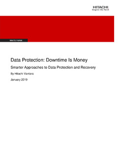 Data Protection: Downtime is Money