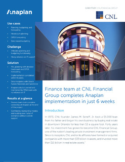 Connected FP&A at CNL Financial