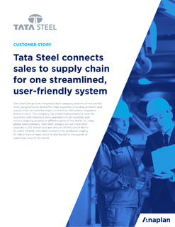 Connected Supply Chain at Tata Steel
