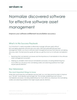 Normalize discovered software to effective software asset management