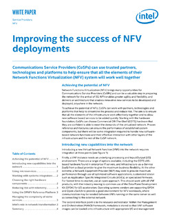 Three Strategies to Improve the Success of NFV Deployments
