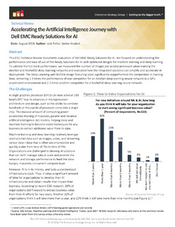 Accelerating the Artificial Intelligence Journey with Dell EMC Ready Solution for AI