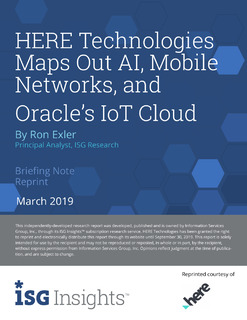 HERE Technologies Maps Out AI, Mobile Networks, and Oracle's IoT Cloud