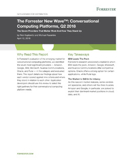 Customer Care_Forrester Wave – Conversational Computing