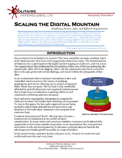 Solitaire Paper: Scaling the Digital Mountain