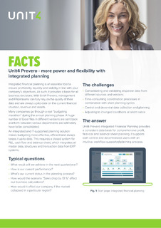 Unit4 Prevero – more power and flexibility with integrated planning