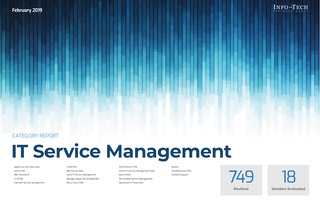 Info-Tech IT Service Management Category Report