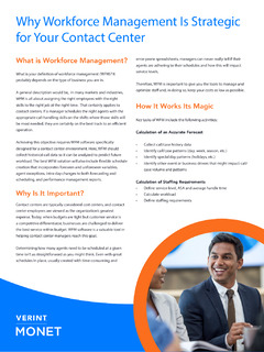 Why Workforce Management Is Strategic for Your Contact Center