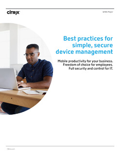 Best practices for simple, secure device management