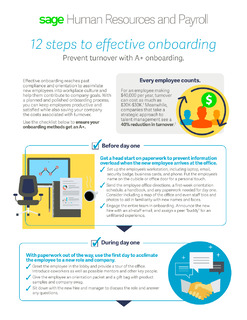 12 Steps to Effective Onboarding