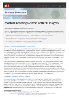 Machine Learning Delivers BetterIT Insights