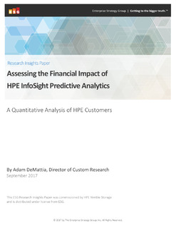 Assessing the Financial Impact of HPE InfoSight Predictive Analytics