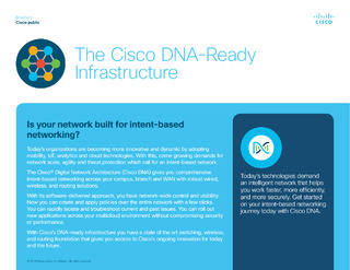 The Cisco DNA-Ready Infrastructure