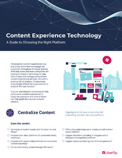 Content Experience Technology Checklist