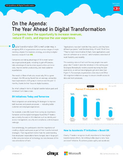 On the Agenda: The Year Ahead in Digital Transformation