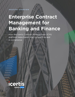 Enterprise Contract Management for Banking and Finance