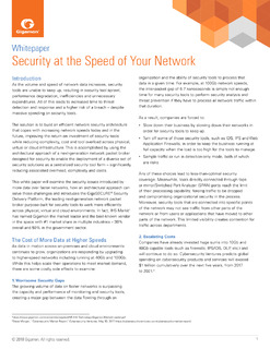 Gigamon Whitepaper: Security at the Speed of Your Network