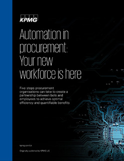 Insight: Automation in procurement: Your new workforce is here