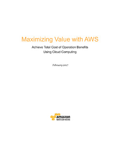 Maximize Value with AWS