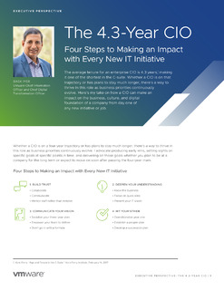 Executive Perspective: The CIO In 4.3 years