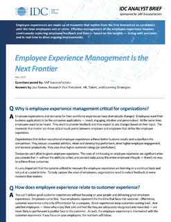 Employee Experience Management Is the Next Frontier