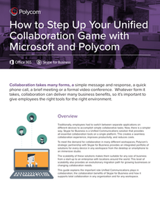 How to Step Up Your Unified Collaboration Game with Microsoft and Polycom