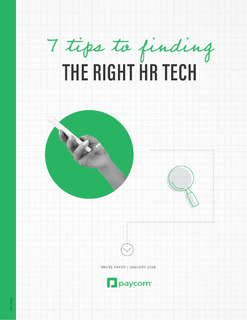 7 Tips to Finding the Right HR Tech