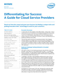 Differentiating for Success: A Guide for Cloud Service Providers