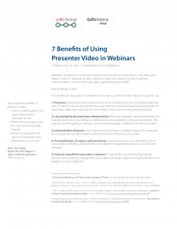 7 Benefits of Using Presenter Video in Webinars
