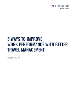 5 Ways to Improve Work Performance with Better Travel Management