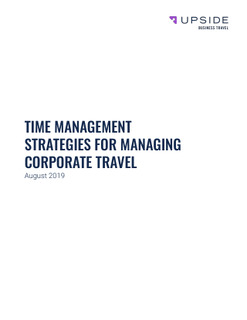 Time Management Strategies For Corporate Travel