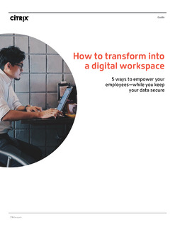 How to transform into a digital workspace