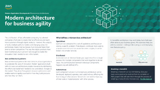 Modern architecture for business agility