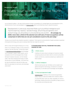 Prepare your workforce for the fourth industrial revolution