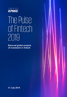 The Pulse of Fintech H1-2019: wealthtech and proptech