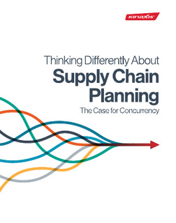 Thinking Differently about Supply Chain Planning