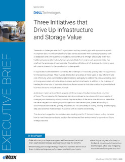 Three Initiatives that Drive Up Infrastructure and Storage Value
